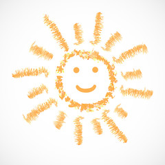 Sun, weather icon. Vector illustration/ EPS 10