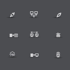 Network,technology icons,vector