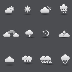 Weather icons,vector