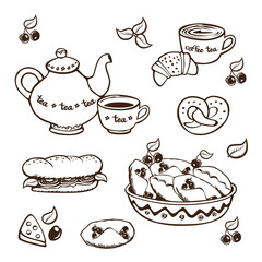 breakfast vector illustration