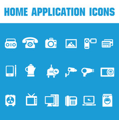 Home application icons,vector