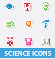 Science icons,vector