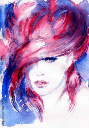 Wall mural abstract  woman portrait