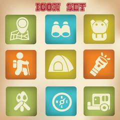 Travel icons,vector