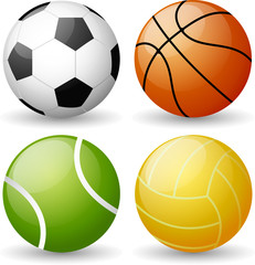 Glossy Sport Ball Set