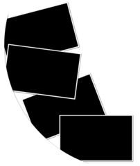 fonds noirs avec bordures pour photos