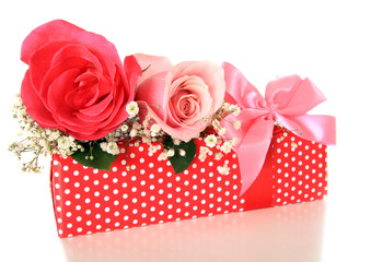 Romantic gift and roses