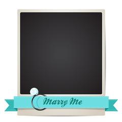 Vector Polaroid photo - Marry me