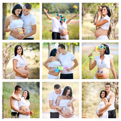 Фотоколлаж беременных с 1 по 9 месяц 85