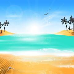 Summer Holidays Background - Vector Illustration