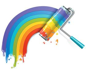 Rainbow paint roll
