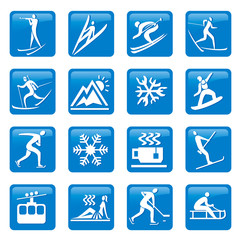 Winter season web icons