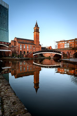 Wall Mural - Chapel on Canals of Castlefield Manchester