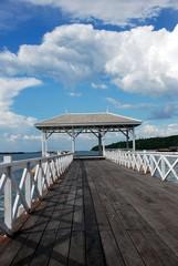 Waterfront pavilion of Seechang Island, Chonburi, Thailand