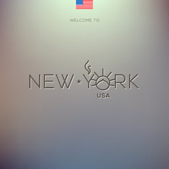 World Cities labels - New York. Vector Eps10 illustration.