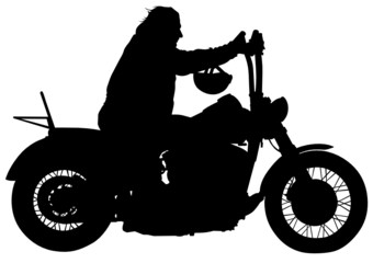 Wall Mural - Man on motorcycle