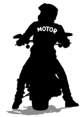 Fototapete - Young man on moto