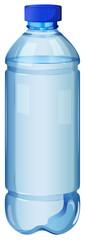 A transparent bottle