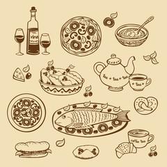elements for the restaurant menu