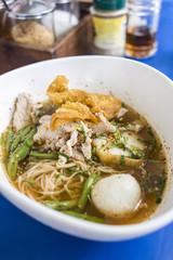 Asian pork noodles