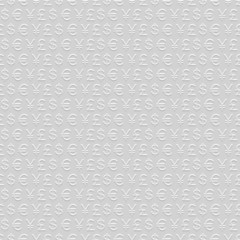 Seamless pattern of  currency signs