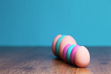 Colored eggs.  tradition