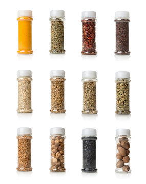 Collage of spices