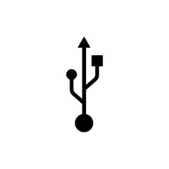 usb icon - vector