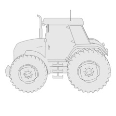 cartoon image of tractor vehicle