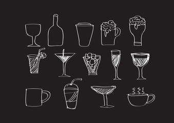 drink icon beverages icon set