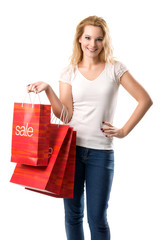 The big sales - Women with Sale Bags