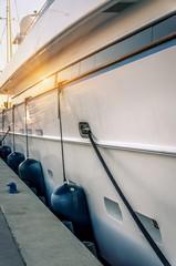 Pare-battage d'un Yacht de luxe.