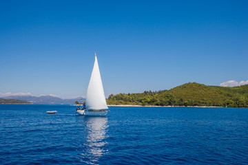 Yacht. Sailing. Yachting. Tourism