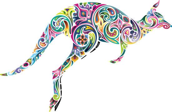 Floral kangaroo.