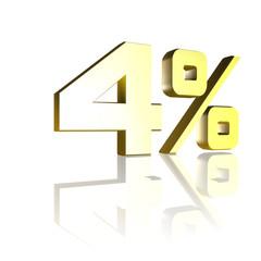4 Prozent