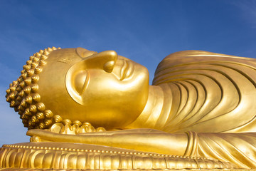 Face of Reclining buddha at thailand