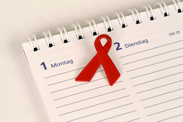 Welt-AIDS-Tag, 1.12.2014, HIV, AIDS-Schleife, Aktionstag