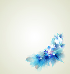 Photo Stands Floral woman Abstract artistic Background