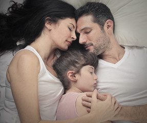 sleeping family