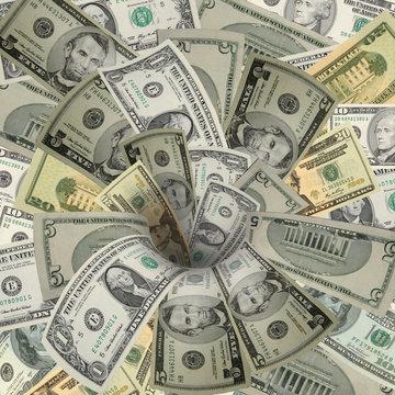 Swirling Money Drain