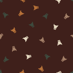 seamless background: cow
