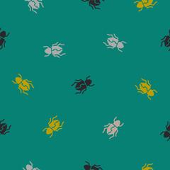 seamless background: beetle