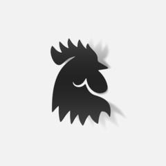 realistic design element: cock