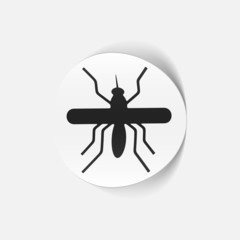 realistic design element: mosquito