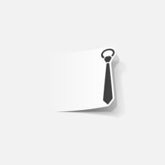 realistic design element: tie