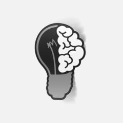 realistic design element: brain lamp