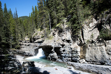 Waterfalls at  Johnston Canyon Banff