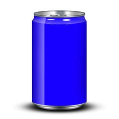 Aluminum Dose Blau