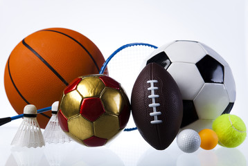 different ball, Set of balls for games