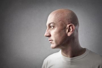 bald man Wall mural